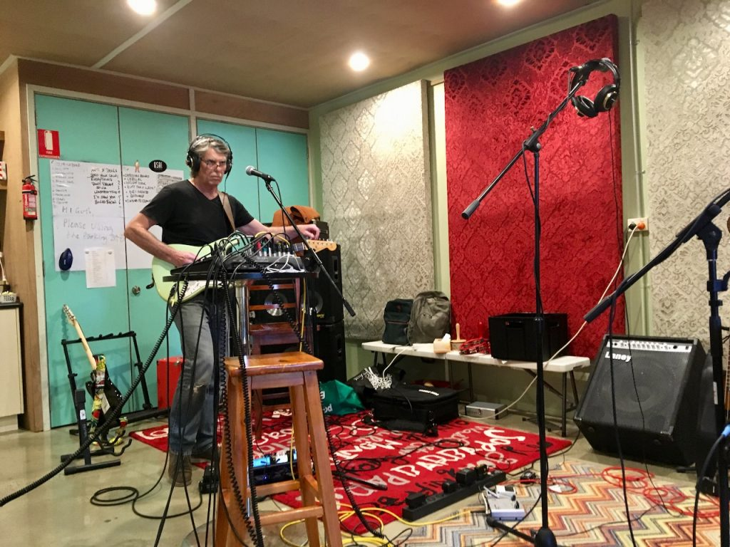 Dave Robertson Kiss List Rehearsing Image