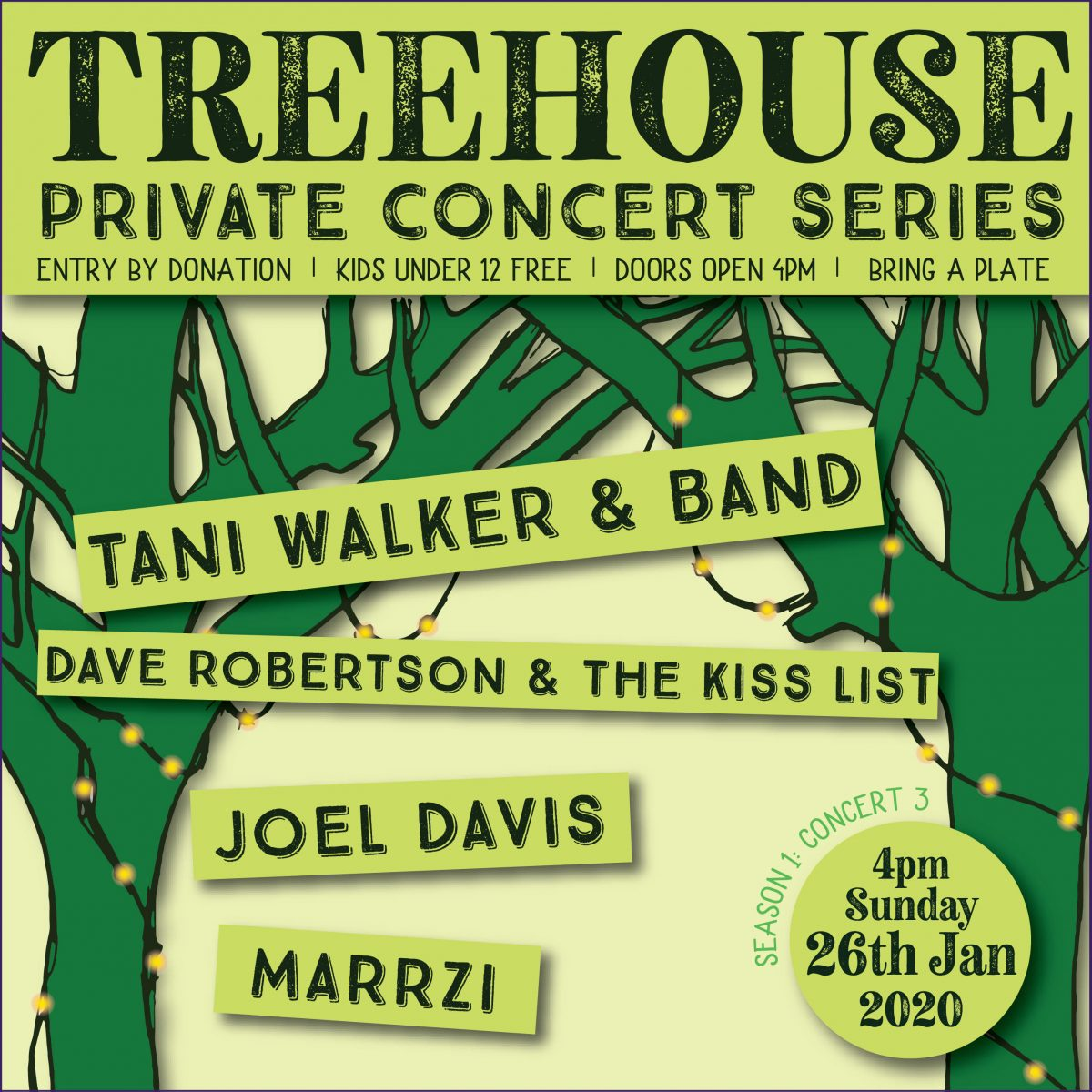 Treehouse Private Concert