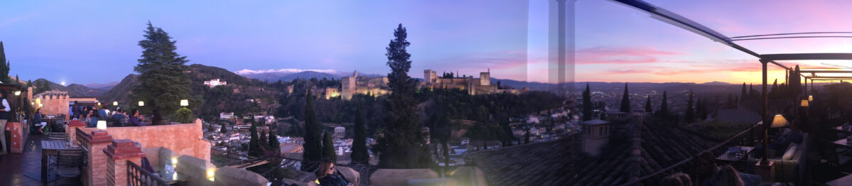 A panoramic photo of the Alhambra in Granada